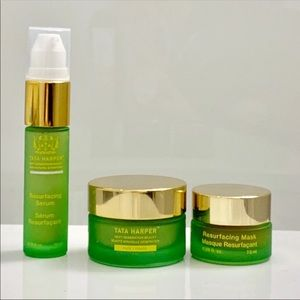 Tata Harper skincare set:cleanser, serum & mask